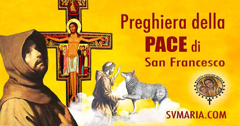 PREGHIERE DI SAN FRANCESCO D'ASSISI.